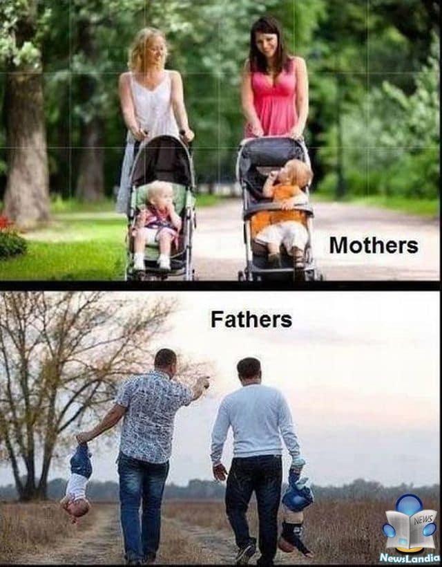 Prendersi cura dei Figli: Differenze Mamma e Papà [GALLERIA DIVERTENTE]