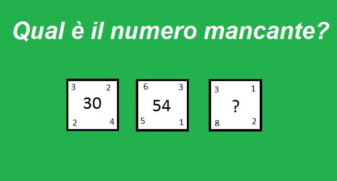 [QUIZ] Qual è il numero da inserire nel terzo quadrato? Ecco la soluzione