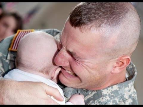 Militari che tornano a casa: prova a non piangere
