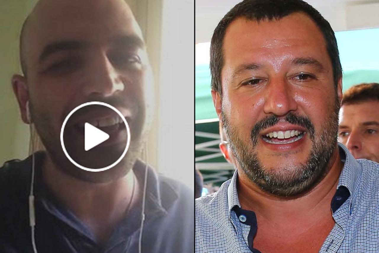 """Salvini e Saviano: continua lo """"scontro virtuale"""""""