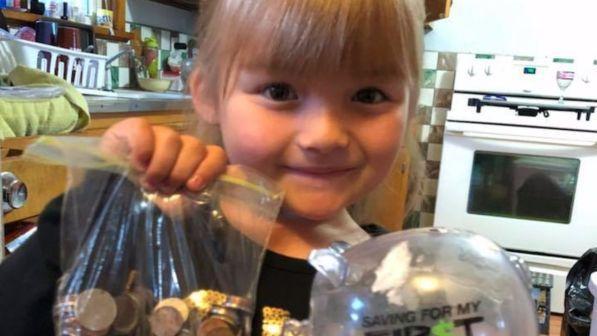 Bimba di 5 anni apre una raccolta fondi. Il perchè vi stupirà