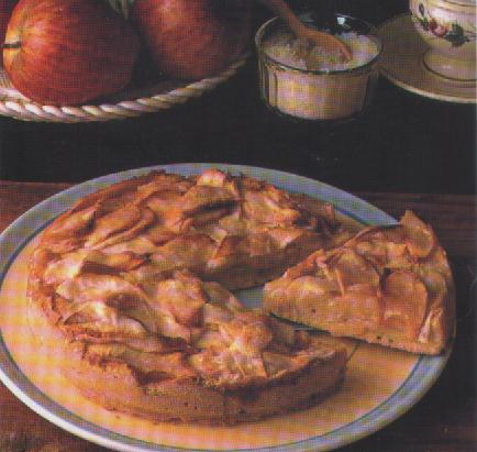 Torta di cocco e mele al cioccolato con Marsala Porto o Sherry