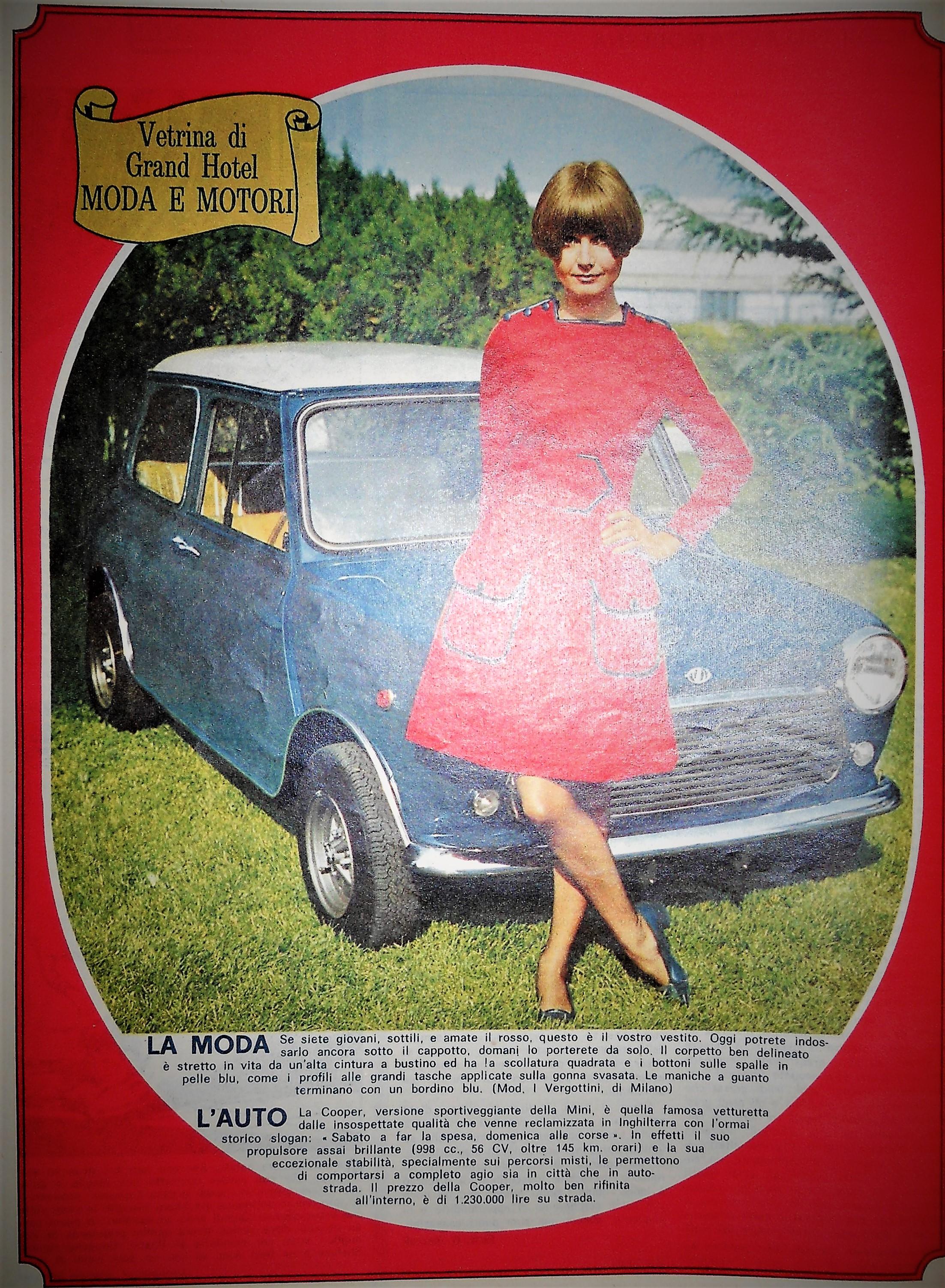 Mini Cooper, la versione sportiva della Mini anni 60