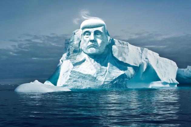 Trump scolpito nei ghiacci, finzione o realtà?