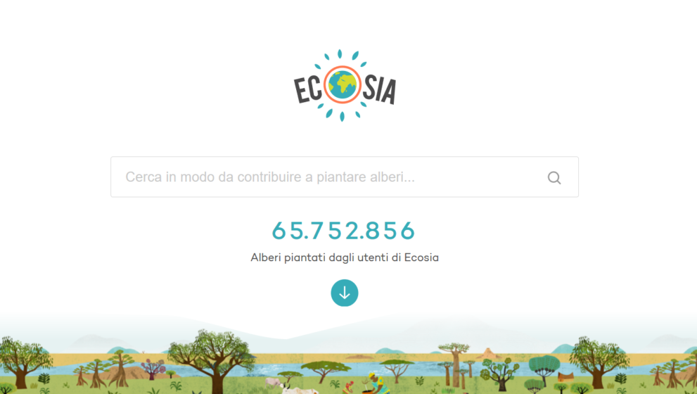 Salvare il pianeta effettuando ricerche: Ecosia