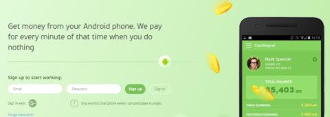 CashMagnet App Guadagna lasciando il tuo smartphone acceso